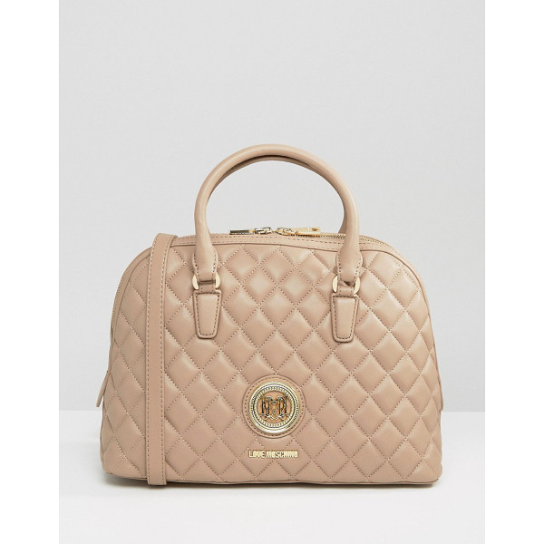 LOVE MOSCHINO Quilted Handheld Bag - Cart by Love Moschino, Quilted faux-leather outer, Branded...