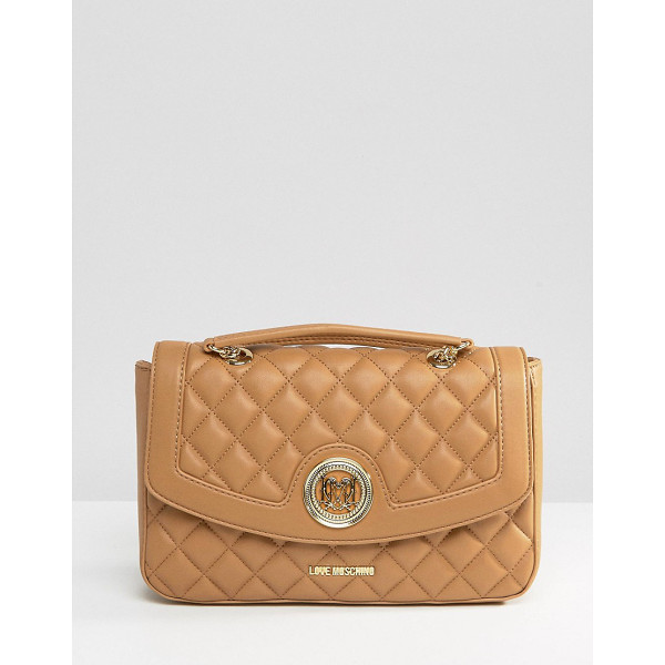 LOVE MOSCHINO Quilted Shoulder Bag - Cart by Love Moschino, Faux-leather outer, Branded lining,...