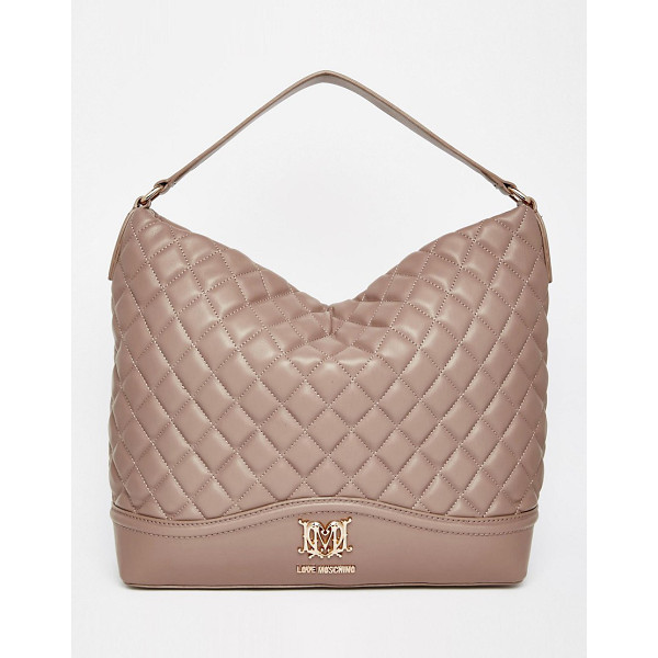 LOVE MOSCHINO Quilted shoulder bag - Cart by Love Moschino Quilted leather-look outer Single...