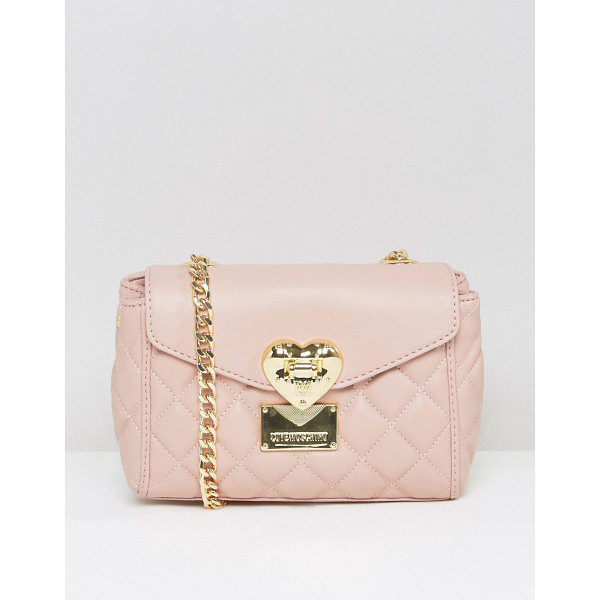 LOVE MOSCHINO Quilted small shoulder bag - Cart by Love Moschino, Quilted faux-leather outer, Branded...
