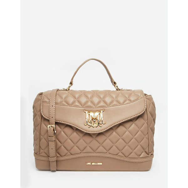 LOVE MOSCHINO Quilted tote bag - Cart by Love Moschino Quilted faux leather Top handle Front...