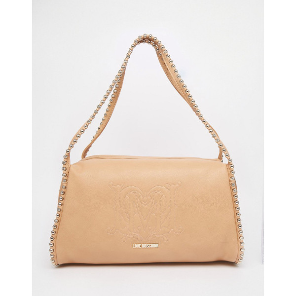 LOVE MOSCHINO Shoulder bag with chain handles - Cart by Love Moschino Faux leather Branded lining Twin...