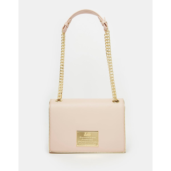 LOVE MOSCHINO Shoulder bag with chain strap - Cart by Love Moschino Smooth, faux-leather outer Gold-tone...