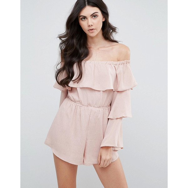 LOVE & OTHER THINGS Bardot Romper With Frill Sleeves - Romper by Love & Other Things, Woven fabric, Stretch...