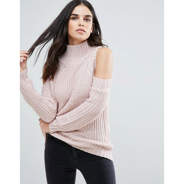 LOVE & OTHER THINGS Cold Shoulder Sweater - Sweater by Love Other Things, Soft-touch knit, High neck,...