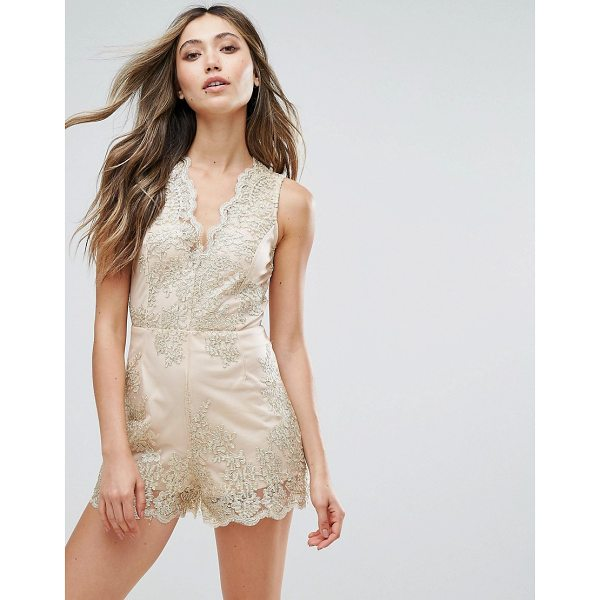 """LOVE & OTHER THINGS Embroidered Romper - """"""""Romper by Love & Other Things, Partially-lined mesh,..."""
