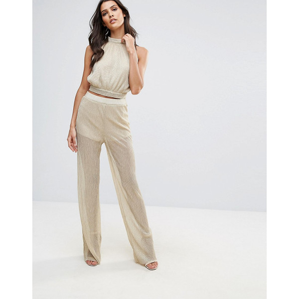 "LOVE Pleated Wide Leg Pant - """"Pants by Love, Lightweight fabric, Metallic thread..."