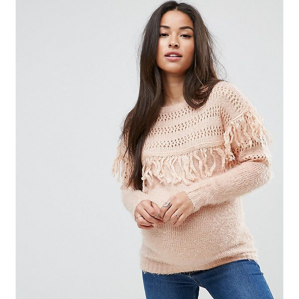 "MAMA.LICIOUS Mamalicious Tassel Front Knitted Sweater - """"Maternity sweater by Mama. Licious, Fluffy knit, Round..."