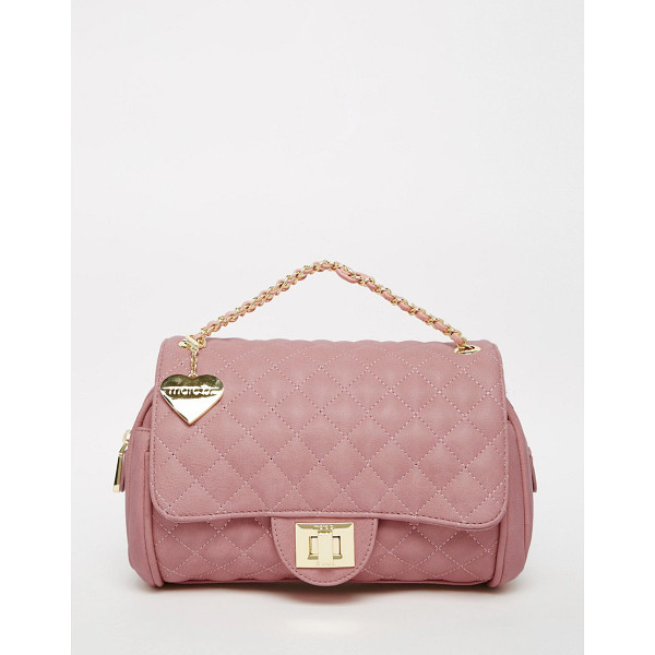 MARC B Quilted shoulder bag in sherbert pink - Cart by Marc b Leather outer Quilted fabric Animal print...