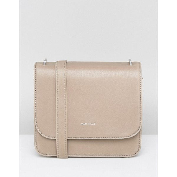 "MATT & NAT Matt & Nat Minimal Cross Body Bag in Nude - """"Cart by Matt Nat, Smooth outer, Recycled plastic lining,..."