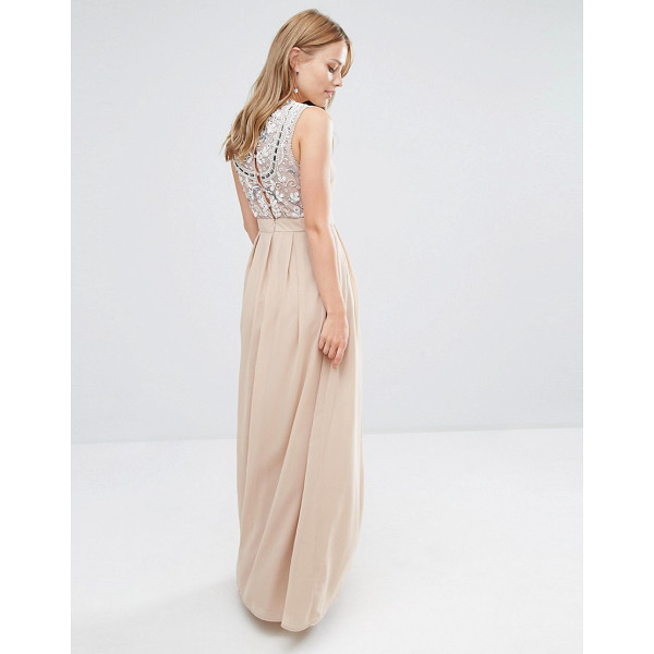 MAYA Delicate Maxi Dress with Embellished Back - Maxi dress by Maya, Heavyweight woven fabric, Fully lined,...