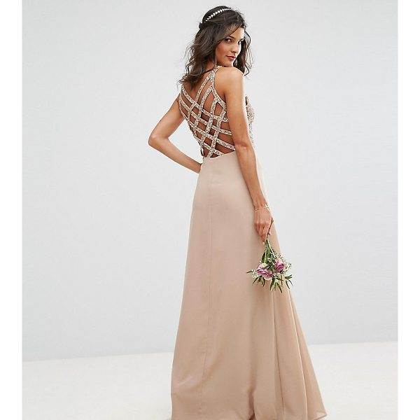"MAYA Delicate Sequin Maxi Dress With Cross Back Detail - """"Maxi dress by Maya, Sequin embellished top, Fully lined,..."