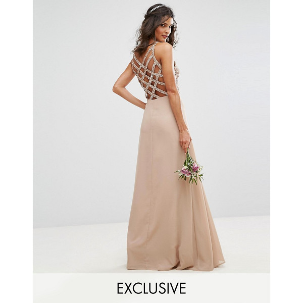 MAYA Delicate Sequin Maxi Dress With Cross Back Detail - Maxi dress by Maya, Sequin embellished top, Fully lined,...