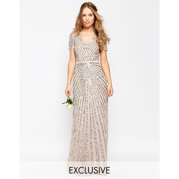 MAYA Sequin All Over Maxi Dress - Evening dress by Maya, Heavy-weight sequinned mesh, Lined...