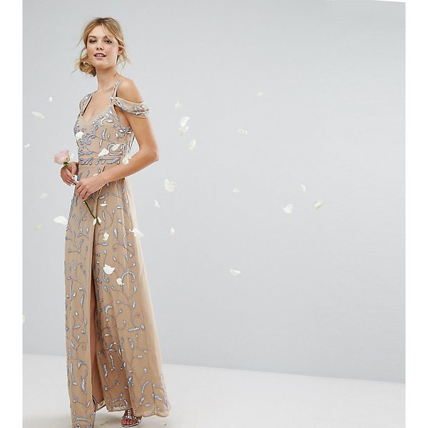 """MAYA TALL Cold Shoulder Allover Embellished Maxi Dress - """"""""Tall dress by Maya Tall, Lined woven fabric, Floral..."""