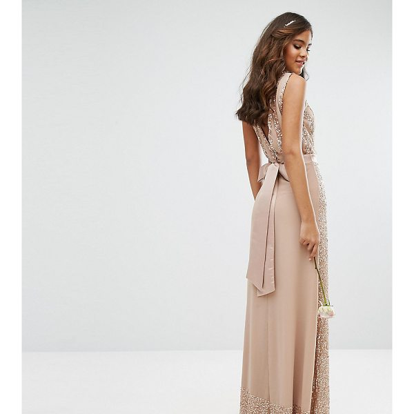MAYA TALL Embellished Maxi Dress With Bow Back - Tall dress by Maya Tall, Chiffon fabric with sequin...