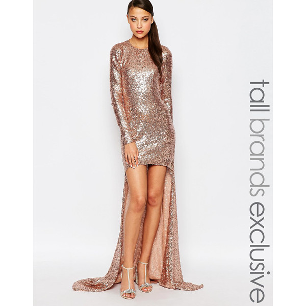 MAYA TALL Sequin High Low Maxi Dress - Maxi dress by Maya Tall, Woven fabric, All-over sequin...
