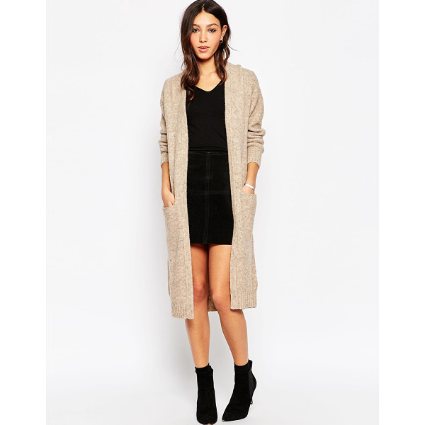 MINIMUM Maxi cardigan with front pockets - Cardigan by Minimum Lightweight fluffy knit Open front...