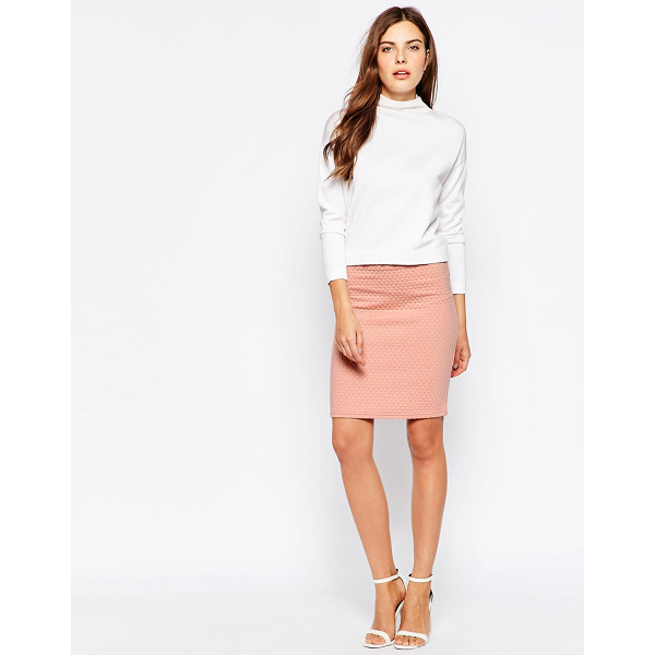 MINIMUM Pencil midi skirt - Midi dress by Minimum Soft-touch, lightweight fabric...