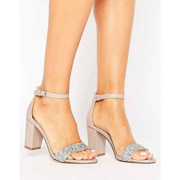 "MISS KG Cadey Embellished Strap Sandal - """"Shoes by Miss KG, Faux-leather upper, Ankle-strap..."