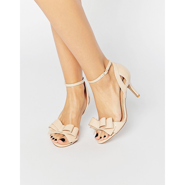MISS KG Caiden Bow Heeled Sandals - Shoes by Miss KG, Faux-suede upper, Open toe, Bow detail,...