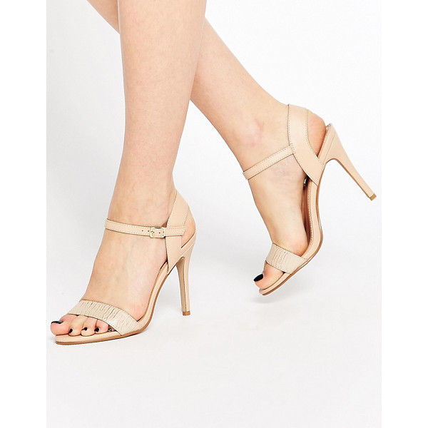 "MISS KG Imogen Barely There Heeled Sandals - """"Shoes by Miss KG, Leather-look upper, Barely there..."
