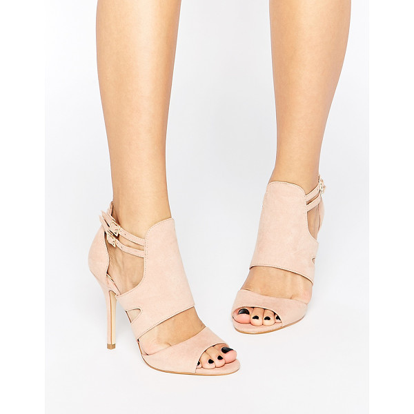 MISS KG India Cut Out Heeled Sandals - Shoes by Miss KG, Matte leather-look upper, Pin buckle...