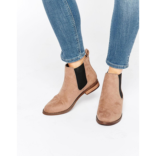 MISS KG Jensen Chelsea Boots - Shoes by Miss KG, Faux-suede upper, Pull-on style,...