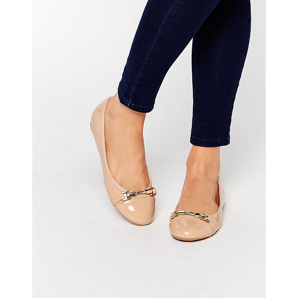 MISS KG Nakita Bar Ballet Flats - Shoes by Miss KG, Faux leather upper, Glossy finish,...