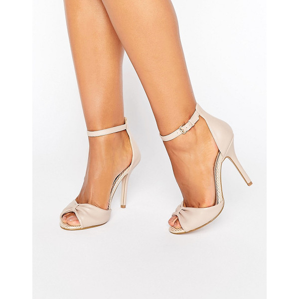 "MISS KG Sara Barely There Sandal - """"Shoes by Miss KG, Faux-leather upper, Ankle-strap..."