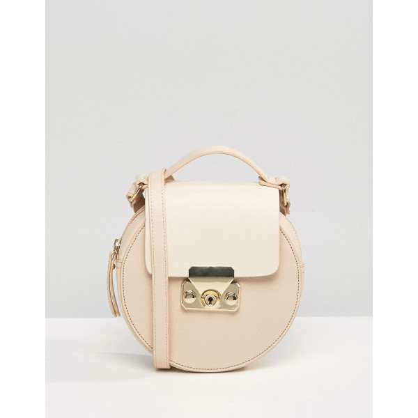 MISS SELFRIDGE Circular Cross Body Bag - Cart by Miss Selfridge, Faux-leather outer, Fabric lining,