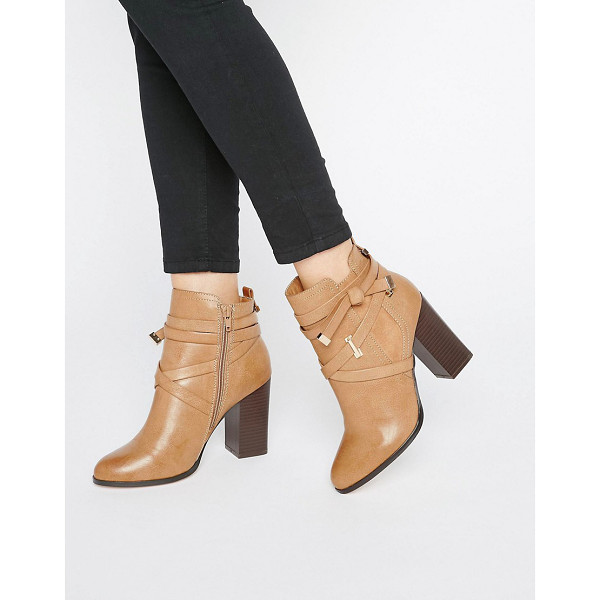 MISS SELFRIDGE Wrap Strap Ava - Boots by Miss Selfridge, Faux-leather upper, Side zip