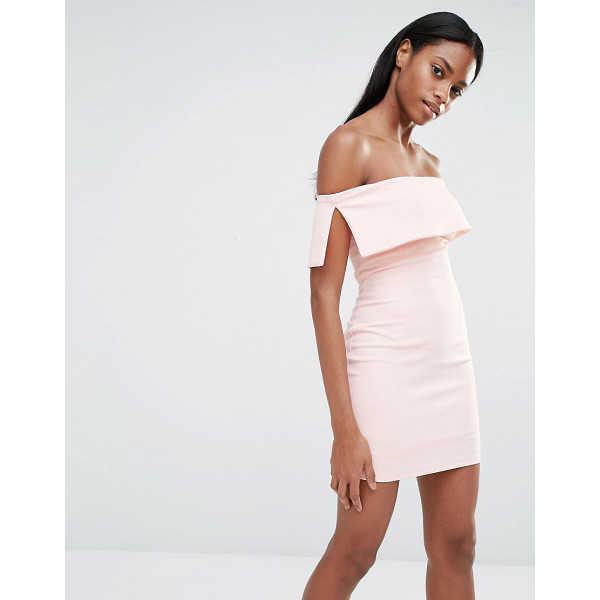 """MISSGUIDED Bardot Bodycon Mini Dress - """"""""Dress by Missguided, Lightly textured woven fabric, Fully..."""