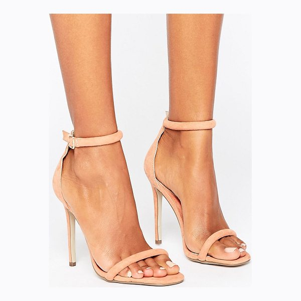 "MISSGUIDED Barely There Ankle Strap Heeled Sandals - """"Heels by Missguided, Textile upper, Ankle-strap..."