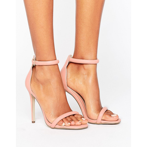 MISSGUIDED Barely There Heeled Sandal - Heels by Missguided, Faux-leather upper, Ankle-strap...