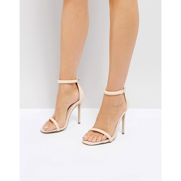 MISSGUIDED Barely There Ankle Strap Sandals - Sandals by Missguided, Faux-leather upper, Smooth patent...