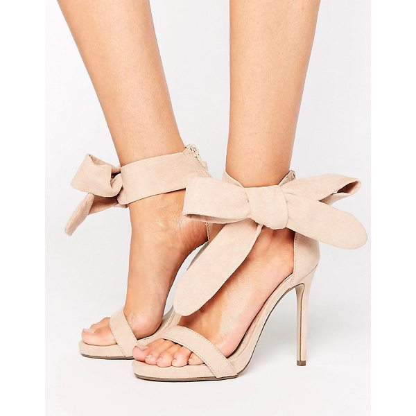 MISSGUIDED Barely There Tie Side Sandals - Sandals by Missguided, Faux-suede upper, Single strap...