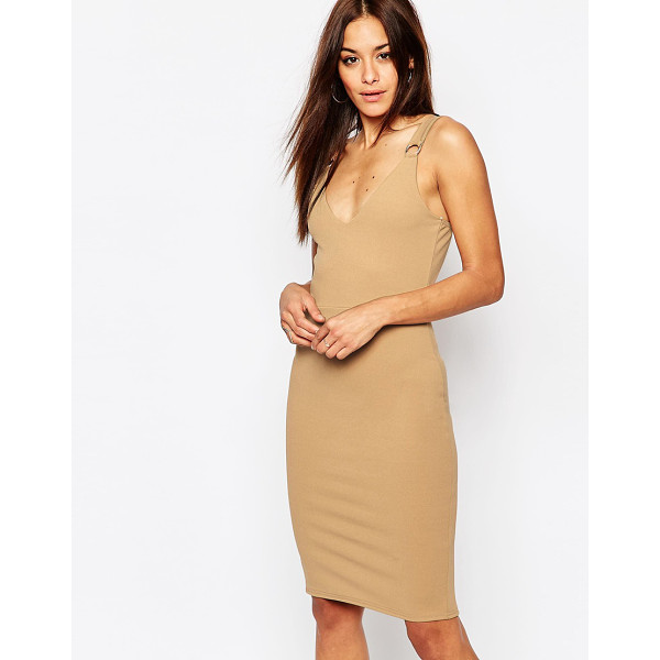 MISSGUIDED Buckle Detail Dress - Bodycon dress by Missguided, Unlined stretch woven fabric,...