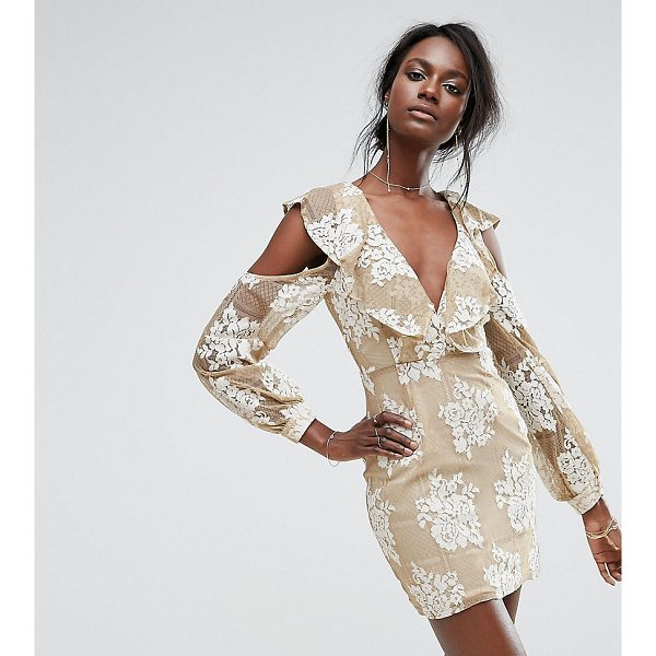 "MISSGUIDED Cold Shoulder Lace Dress - """"Lace dress by Missguided, Lined lace, Plunge neck,..."