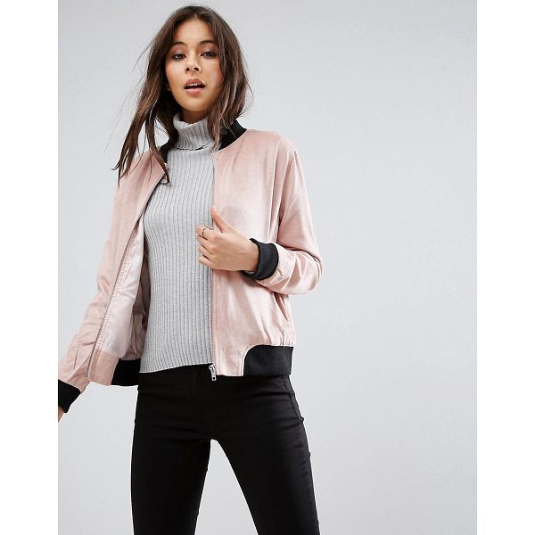 "MISSGUIDED Contrast Rib Faux Suede Jacket - """"Jacket by Missguided, Faux suede, Silky-feel lining,..."