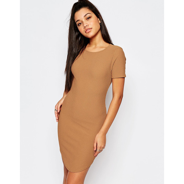 MISSGUIDED Curve hem waffle textured bodycon dress - Body-Conscious dress by Missguided, Waffle textured fabric,...