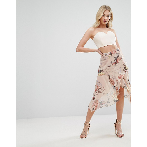 """MISSGUIDED Floral Asymmetric Midi Skirt - """"""""Skirt by Missguided, Lightweight chiffon, Floral design,..."""