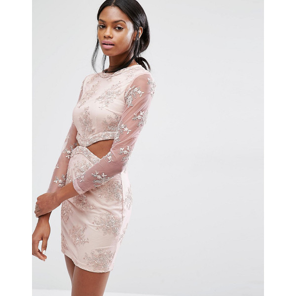 "MISSGUIDED Floral Lace Cut Out Mini Dress - """"Dress by Missguided, Lined woven fabric, All-over..."
