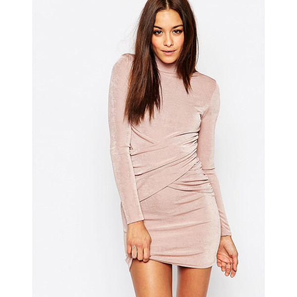 MISSGUIDED High neck bodycon mini dress - Body-Conscious dress by Missguided, Slinky-feel fabric,...