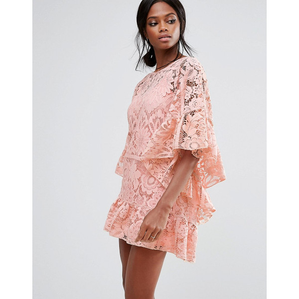 MISSGUIDED Lace Kimono Sleeve Dress - Dress by Missguided, Woven lace, Partially lined, Scoop...