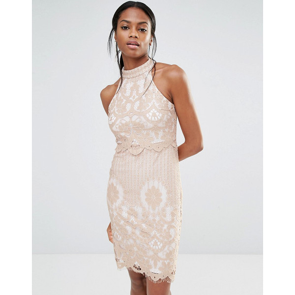 "MISSGUIDED Lace Overlay Dress - """"Dress by Missguided, Lined lace, High neckline, Scalloped..."
