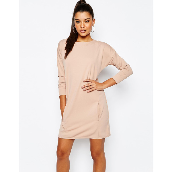 MISSGUIDED Pocket Detail Sweater Dress - Dress by Missguided, Smooth woven fabric, High round...