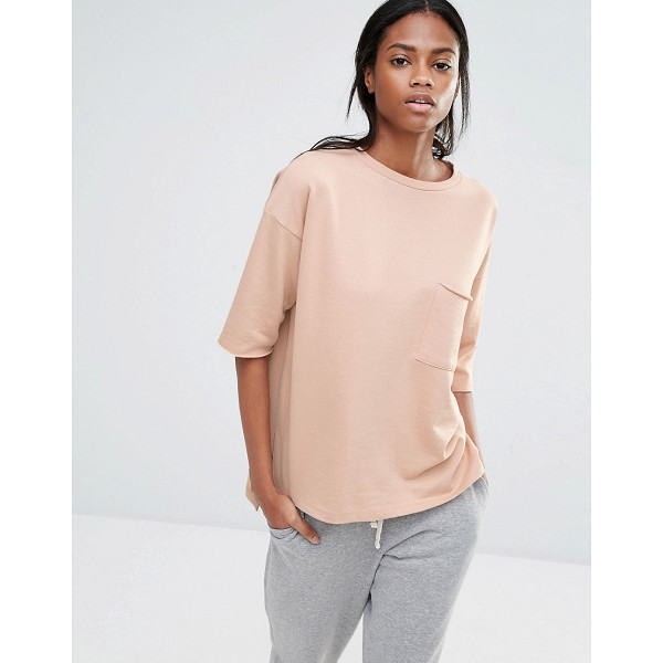 MISSGUIDED Pocket Front Sweater T-Shirt - T-shirt by Missguided, Loop-back sweat, Round neckline,...