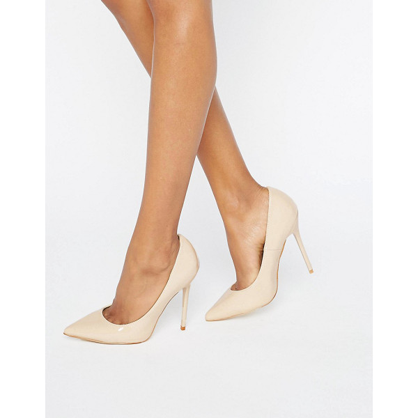 MISSGUIDED Pointed Heeled Court Shoe - Shoes by Missguided, Patent upper, Slip-on style, Pointed...