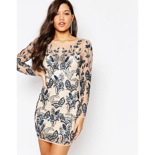 MISSGUIDED Premium Floral Embellished Bodycon Mini Dress - Party dress by Missguided, Embellished woven fabric, Lined...